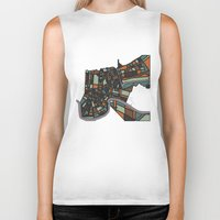 new orleans Biker Tanks featuring New Orleans by BigRedSharks