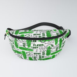 Gamer Lingo-White and Green Fanny Pack