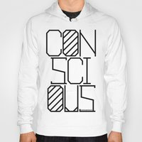 techno Hoodies featuring Techno by Conscious Panda