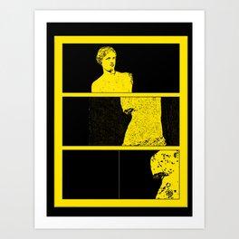 Venus in Strip Art Print