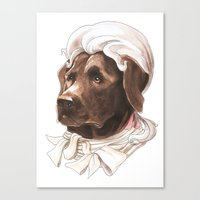 labrador Canvas Prints featuring Labrador by Petty Portraits