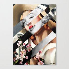 Tamara De Lempicka's The Straw Hat & Marylin Monroe Canvas Print