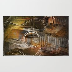 Abstract Cubist Style Guitar Rug