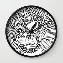 Rise of the Dawn of the Planet of the Psychedelic Apes by The Rural drawer Wall Clock
