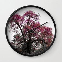 Pink mystery tree Wall Clock