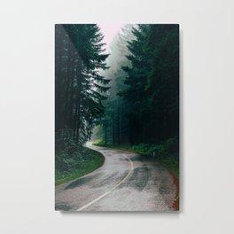 Eerie Dark Path (Color) Metal Print