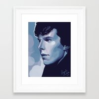 sherlock Framed Art Prints featuring Sherlock by Angela Taratuta