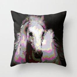 White Arabian Throw Pillow