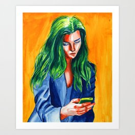 Tetrad girl Art Print
