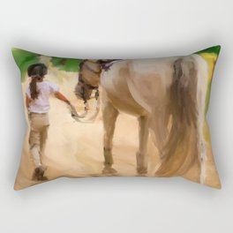 First ride Rectangular Pillow