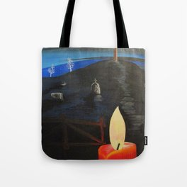 Candle in  Cemetery Tote Bag