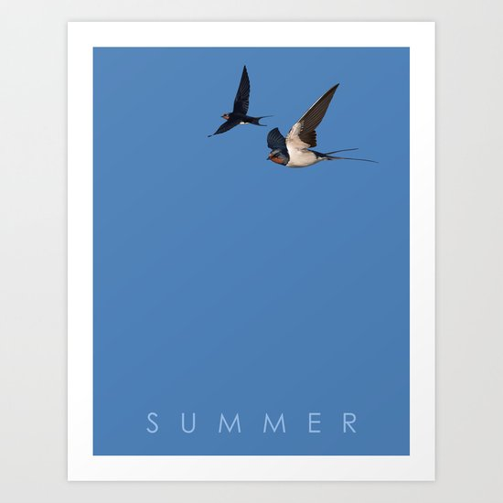Blue Series #002 ~ Summer Art Print