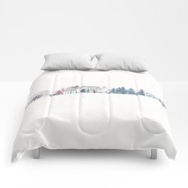 Winter Chateau Comforters