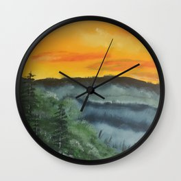 What lies beyond the valley Wall Clock