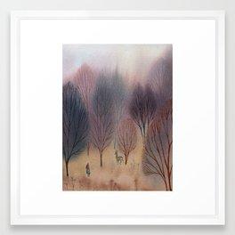 November Woods Framed Art Print