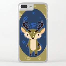 Deer with Hoof Prints Clear iPhone Case