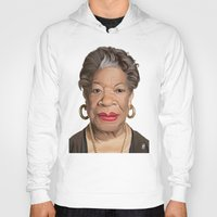 celebrity Hoodies featuring Celebrity Sunday ~ Maya Angelou by rob art | illustration