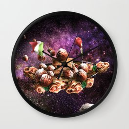 Funny Space Pasta Cat Wall Clock
