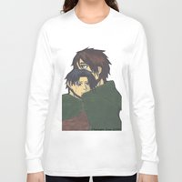 levi Long Sleeve T-shirts featuring Eren x Levi by Midnight Zoe