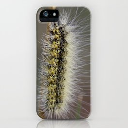 Yellow Fuzzy Caterpillar on a Stick iPhone Case