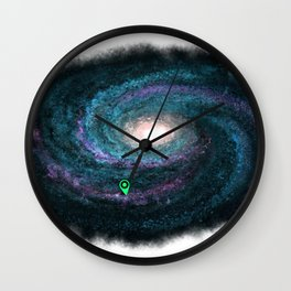 We are here cyan Wall Clock