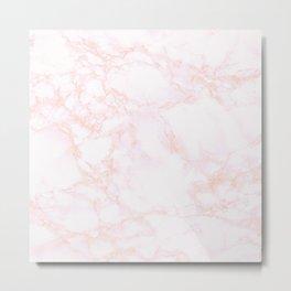 blush marble Metal Print