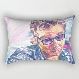 """Jurassic Park : Jeff Goldblum/Ian Malcom : """"Chaotician 3 / 4"""" Rectangular Pillow"""
