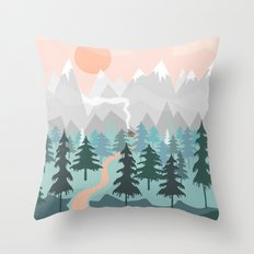 River Forest Throw Pillow