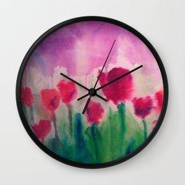 Purple Rain (in Bloom) Wall Clock