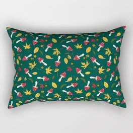 fly agaric and autumn leaves Rectangular Pillow