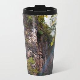 Looking up to the Natural Bridge, VA Travel Mug