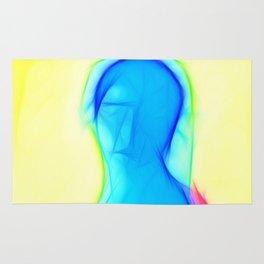 Blue woman Rug
