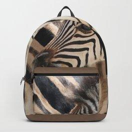 Zebra mother with Baby - wildlife Backpack