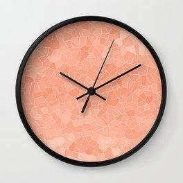 Mosaic Peaches & Cream Wall Clock