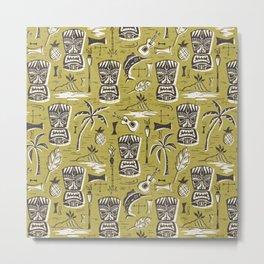 Tropical Tiki Green Metal Print