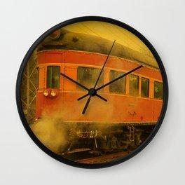 CHRISTMAS STEAM TRAIN Wall Clock