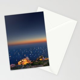 Yacht show Sunset Stationery Cards