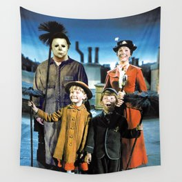 Michael Myers in Mary Poppins Wall Tapestry