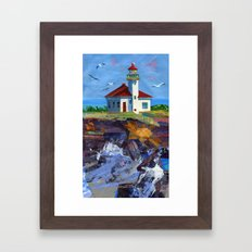 Cape Arago Lighthouse Framed Art Print