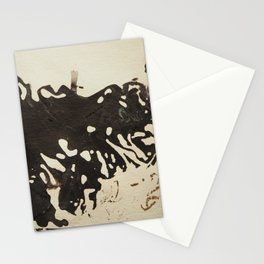 Ink drawing - abstract pattern Stationery Cards
