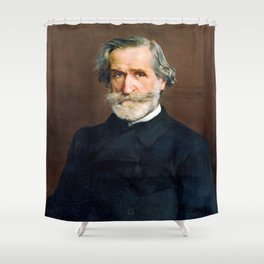 Giuseppe Verdi (1813 – 1901) by Giovanni Boldini (1842 - 1931) Shower Curtain