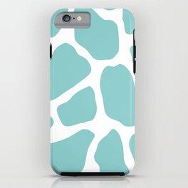 Sky Blue Giraffe Print iPhone Case