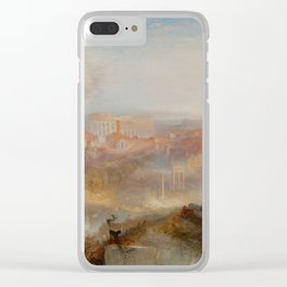 "J.M.W. Turner ""Modern Rome – Campo Vaccino"" Clear iPhone Case"