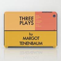 tenenbaum iPad Cases featuring Three Plays By Margot Tenenbaum by FunnyFaceArt
