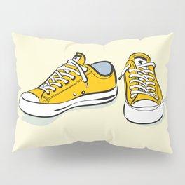 Yellow Sneakers Pillow Sham