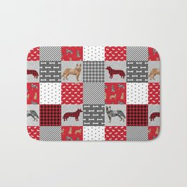 Australian Cattle Dog cheater quilt pattern dog lovers by pet friendly Bath Mat