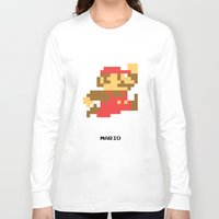 video game Long Sleeve T-shirts featuring Lab No.4 -Mario Video Game Quotes,Poster by Lab No. 4