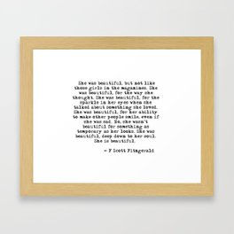 She was beautiful Framed Art Print