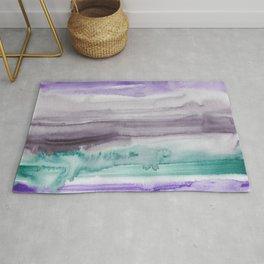 11    190907   Watercolor Abstract Painting Rug