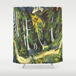 Ernst Ludwig Kirchner Forest Gorge at Staffel c1938 Shower Curtain